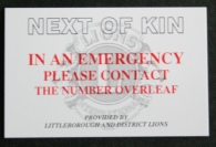 Picture of Next Of Kin Card